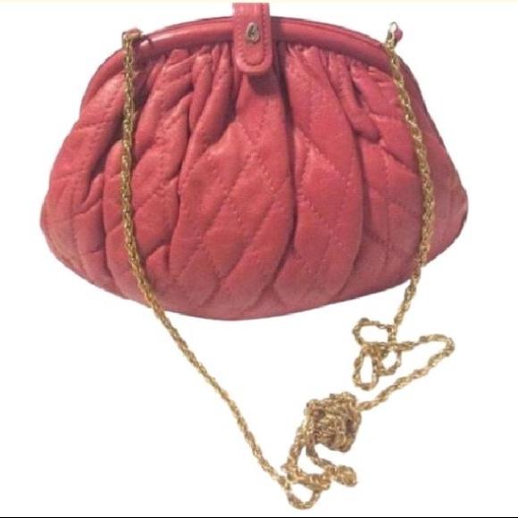 Brio Handbags - Brio Vintage Pink Leather Quilted Purse